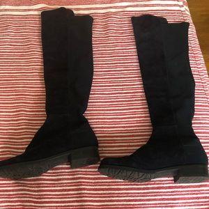 Stuart Weitzman high blue suede boots size 5.5